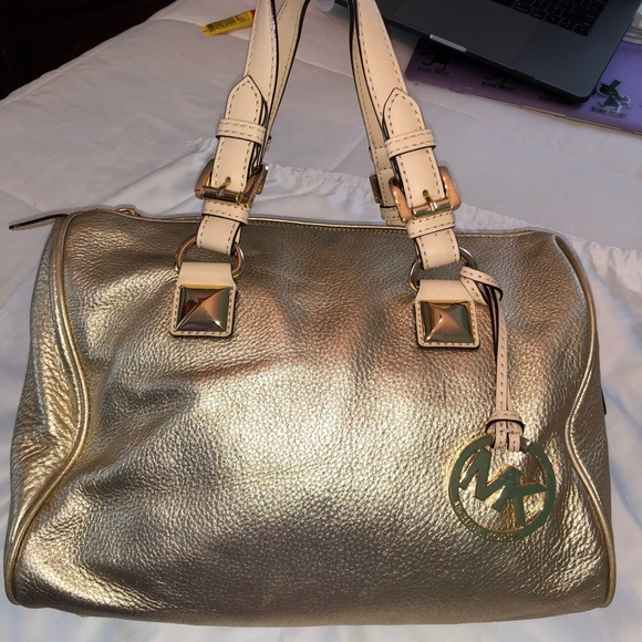 Michael Kors Handbags - Michael Kors Gold Medium Satchel